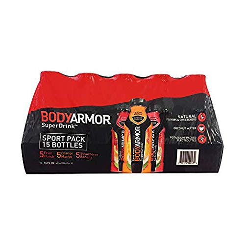 BODY ARMOR Sports Drinks Variety Pack 16 oz bottle, 15 Count