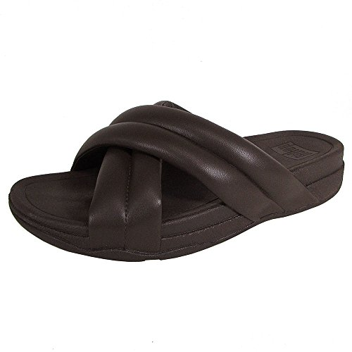 Fitflop Mens X-tracomff Sandales À Bout Ouvert Chaussures Brun Chocolat