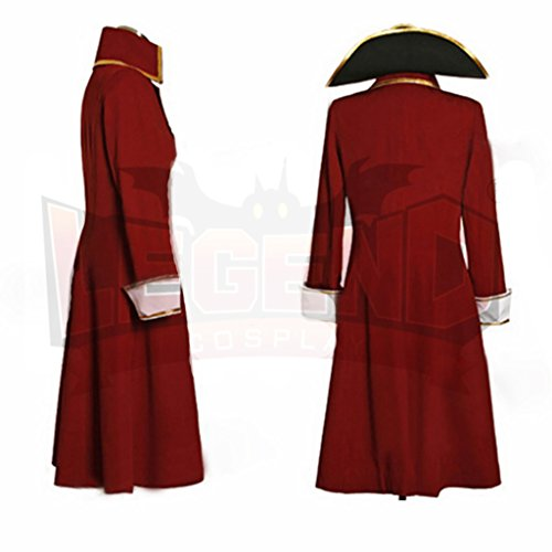 1791's lady Men's Pirate Henry Morgan Captain Costume Coat+Hat -XXL by 1791's lady (Image #3)