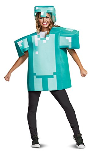 Disguise Men's Minecraft Armor Classic Adult Costume, Blue, One Size