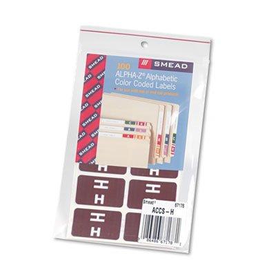 Smead Alpha-Z Color-Coded Second Letter Labels, Letter H, Da