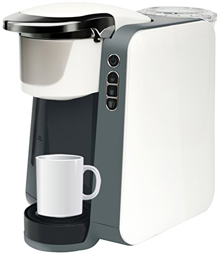 Single Cup Brewer – K Cup Compatible – By Mixpresso (White/Grey)