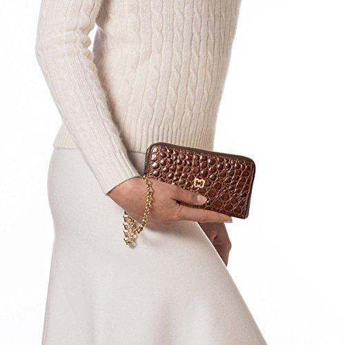 Eric Javits Luxury Fashion Designer Women's Handbag - Smartphone Wristlet - Dark Brown by Eric Javits