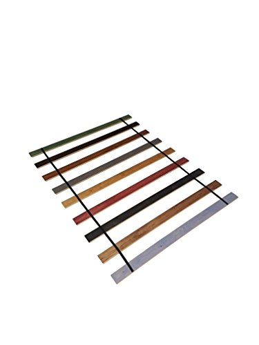 Custom Made in the U.S.A.! Full Size Stained Wood Bed Slats with Black Strapping - Cut to the Width of Your Choice by The Furniture Cove