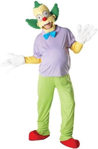 Carnaval Hombre Disfraz Krusty The Clown para Simpson Comic tamaño m/l: Amazon.es: Juguetes y juegos