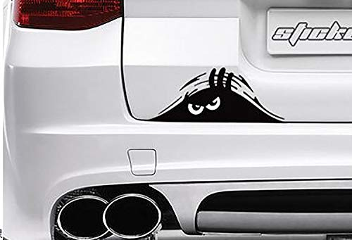 TooCust Peeking Monster Scary Eyes Car Decal/Sticker car Sticker 7.5 inch Decal Sticker for Vehicle Car Truck Window Bumper Decor