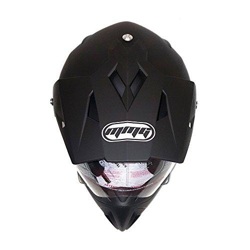 Helmet Dual Sport Off Road Motorcycle Dirt Bike ATV - FlipUp Visor - 27V (XXL, Matte Black) by MMG (Image #3)