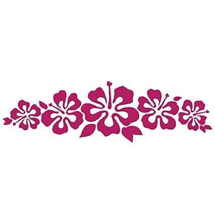 Amazon hibiscus band vinyl sticker flower decal hawaii dark hibiscus band vinyl sticker flower decal hawaii dark pink flower lei mightylinksfo