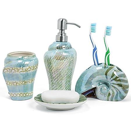 419n816eL1L._SS450_ 50+ Beach Bathroom Accessory Sets and Coastal Bathroom Accessories