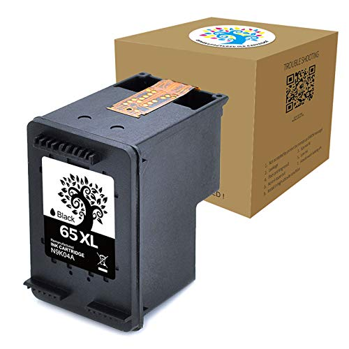 Compatible Ink Cartridge Replacement for HP 65XL Used for HP Deskjet 3758 3752 3720 3721 3723 3724 3730 3732 3755 2655 2624 2622 Printers (1 Black) - H&BO TOPMAE H&BO TOPMAE