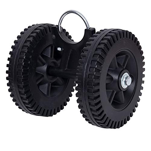 Lazy Daze Hammocks Stand Wheels Plastic Wheel Kit for 9 to 15 Feet Steel Stands, Black
