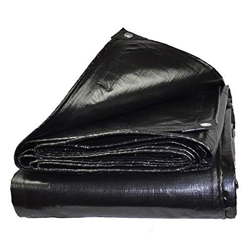 予知お別れ結果としてQIANGDA トラックシート荷台カバー日焼け止め 防水 プラスチック製のターポリン フロアカバー 耐久性、 (180g /m²) 複数のサイズ (色 : 黒, サイズ さいず : 6x8m)