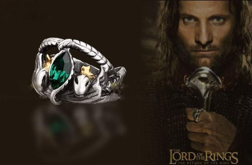 Titanium Steel Lord of The Rings Aragorn's Ring of Barahir US 11, Lord of The Rings Jewelry for Men (Lord Of Rings Rings)