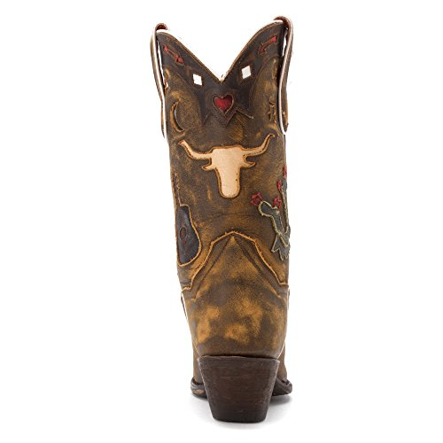 Dan Post Femmes Cow-boy Rêves Cow-girl Boot Snip Toe Tan Vintage