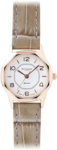 PIERRE LANNIER watch octagonal watch pink gold / Croco embossed gray P043904 C30 Ladies
