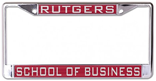 WinCraft Rutgers University School of Business, Camden License Plate Frame, metal with acrylic inaly, red, 2 mounting - Holes Mounting Two