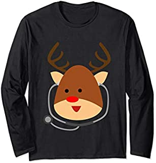 [Featured] Funny Doctor Nurse Christmas Gift Reindeer Doctor Ugly Xmas Long Sleeve in ALL styles | Size S - 5XL