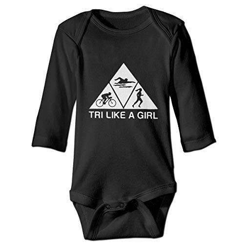 (Thoreau Holmes Triathlon Like A Girl Unisex Infant Baby Long Sleeve Cotton Bodysuit One-Piece Onesies 2T)