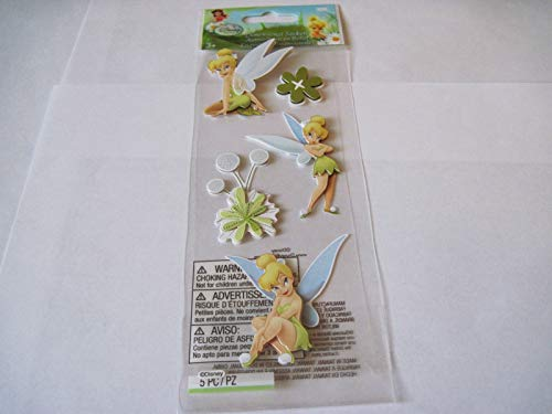 Sticker Scrapbooking Disney Tinker Bell Tinkerbell 3 Poses Flowers Dimensional
