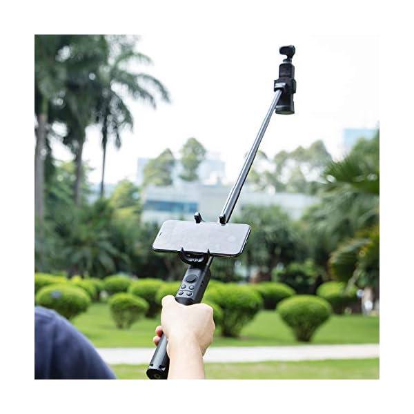 DJI Osmo Pocket Extension Rod - Asta di Estensione Retraibile per Osmo Pocket, Prolunga/Accessori per Gimbal, Diverse Opzioni di Ripresa, Lunghezza Massima 500mm, con Supporto per Smartphone 6 spesavip
