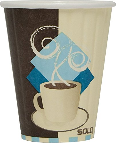 Solo Duo (SOLO IC8-J7534 Duo Shield Insulated Paper Hot Cup, 8 oz. Capacity, Tuscan Cafe (Case of 1,000))