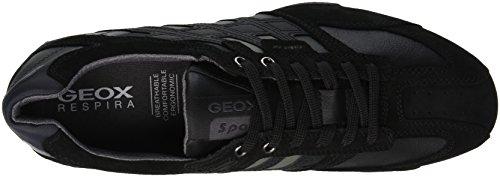 C9999 Black Schwarz K Snake Uomo Geox Sneaker Herren wn8qRfq0T