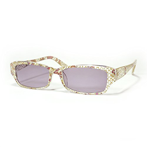 One Stop Discount Shop® - Square Light Tinted Translucent Black Multi colored Scale Style Sun - Scale Black Sunglasses