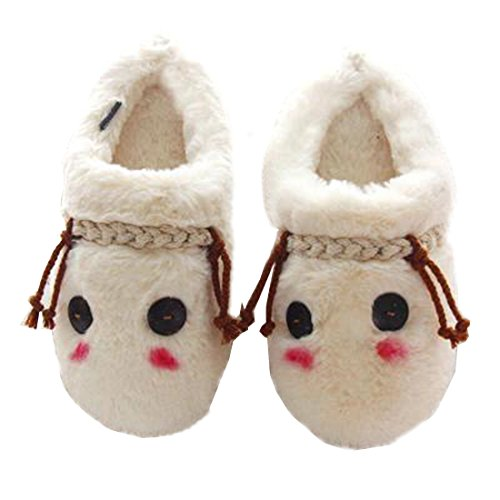 SANNIX Family Home Slippers,Children Girls Men Soft Cozy Coral Fleece Warm Indoor Slippers Winter Mules Non-slip Rubber Sole Shoes (Child Purple Furry Boot Covers)