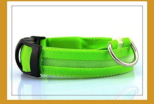 Cat Furniture for Kittens Light Emitting Led Flash Pet Collar Collar Collar Luminous Flashing Dog 7 colors Optional,XL,Green