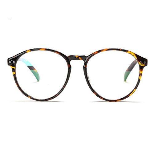 Non-Prescription Oversized Metal Frame Clear Lens Round Circle Eye Glasses C3
