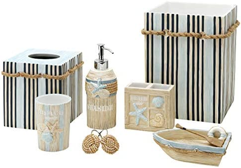 Amazon Com Zenna Home Seaside Serenity Tumbler Teal Ivory Home Kitchen