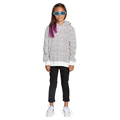 Volcom Women's Big Girls Knew Wave Boxy Hooded Sweatshirt, Star White, Large