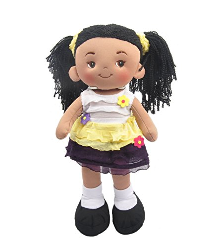 "Linzy Plush 16"" Yellow Aissa Doll Soft Rag Doll for sale  Delivered anywhere in USA"