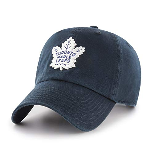 NHL Toronto Maple Leafs OTS Challenger Adjustable Hat, Navy, One Size (Renewed)