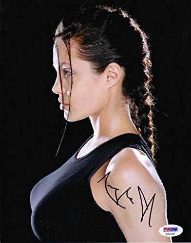 ANGELINA JOLIE SIGNED 8X10 PHOTO AUTOGRAPH HOT SEXY AUTHENTIC PSA/DNA COA E