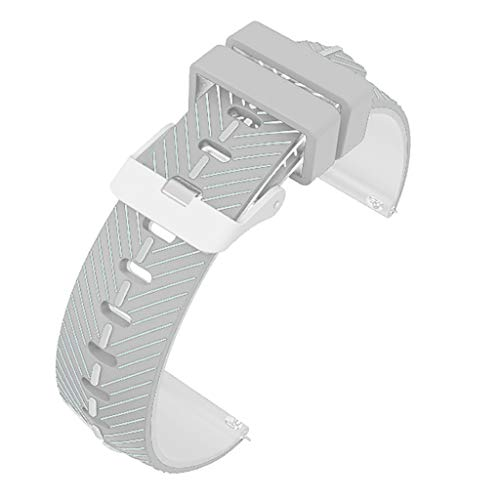 Two Tone Woven Handmade Band - Gonxifacai Two-tone Silicone Woven Watch Band For Gorgeous 2 / TicWatchPro Replacement Watch Bands 22 mm(Gray)
