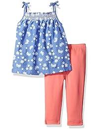 Baby Girls' 2 Piece Chambray Dress and Legging Set