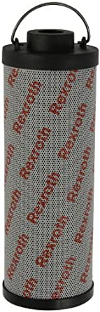 """Bosch Rexroth R928017575 Micro-glass Filter Element, Cartridge Type, 1.90"""" ID x 3.70"""" OD x 10.85"""" Tall, 10 Micron (Absolute), With Bypass Valve. Removes Particle Contaminants and Protects Hydraulic Systems"""