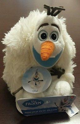 """Disney Frozen Olaf Hideaway Pillow Pets Mini 5"""" Stuffed Plus"""