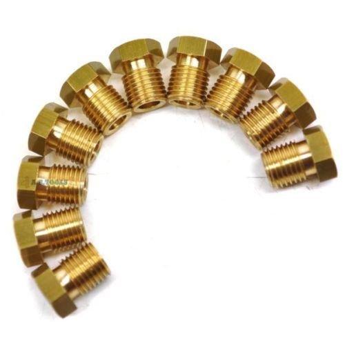 AB Tools-Automec Los racores del Tubo de Freno de lat/ón 3//8 x 24 UNF Macho Corto 10 Pack para Tubo 3//16 FL17
