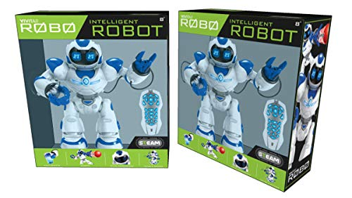 Kids Tech VA90022 Interactive Robot with Remote Control, Robot Can Sing, Dance, and Shoot A Ball Toy, Grab and Deliver Objects, Test Accuracy, Interactive Robot, Slow Walks, White by Kids Tech (Image #4)