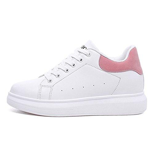 Baskets Mode Décontracté Bas Blanc Baskets Basses Pour Les Femmes Chaussures De Sport En Plein Air Rose