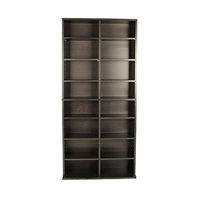 38435719 Oskar Media Cabinet for 464 CD or 228 DVD, Espresso
