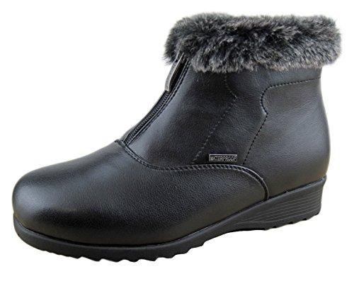 Comfy Moda Women's Winter Snow Boots London (10, Black) by Comfy Moda