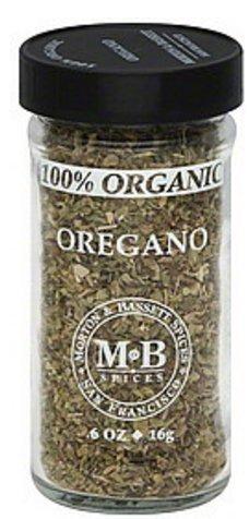 Morton & Bassett Organic Oregano 0.6 Ounce Bottle (Pack of 3)