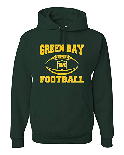 - Large Forest Green Adult Green Bay Football Sweatshirt Hoodie