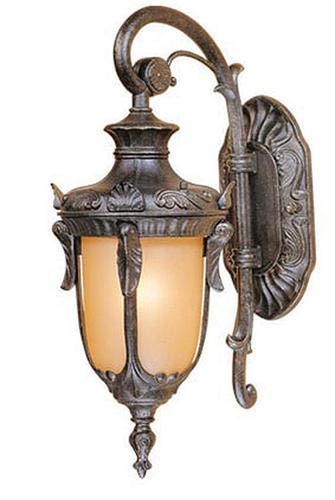 """Patriot Lighting Concord 16.5"""" Gold Stone Transitional Outdoor Wall Light"""