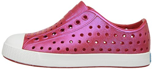 native Kids' Jefferson Iridescent Child Shoe, Torch Red/Shell White/Galaxy Iridescent,  9 Medium US Toddler by Native Shoes (Image #5)