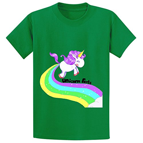Unicorn Farts Rainbow Teen Crew Neck Customized T Shirts (Hooters Outfit For Halloween)
