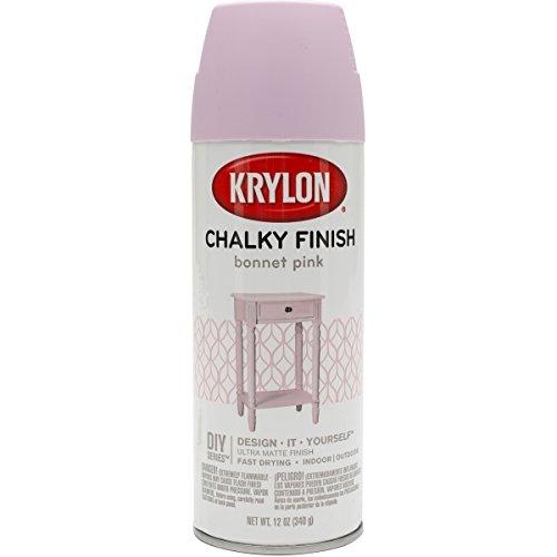 Krylon K04116007 Chalky Finish Spray Paint, Bonnet Pink, 12 Ounce